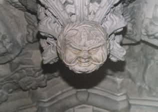 A Green Man at Rosslyn Chapel, near Edinburgh.